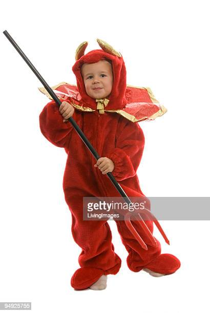 lil' devil - devil costume stock photos and pictures