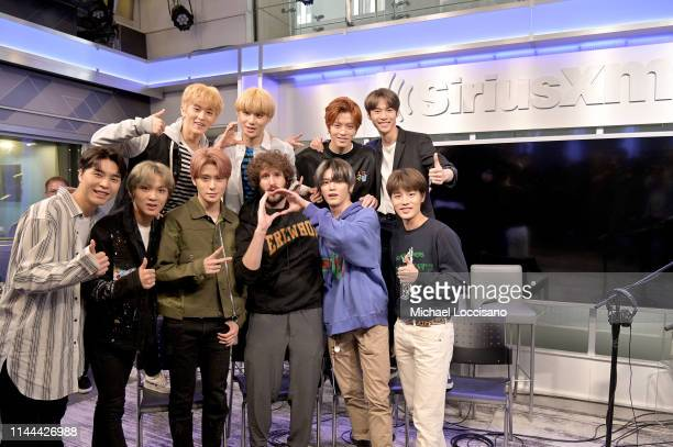 Lil Dicky and NCT 127 visit SiriusXM Studios on April 22 2019 in New York City