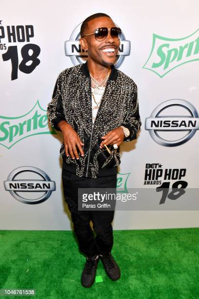 Lil Duval arrives at the BET Hip Hop Awards 2018 at Fillmore Miami Beach on October 6 2018 in Miami Beach Florida