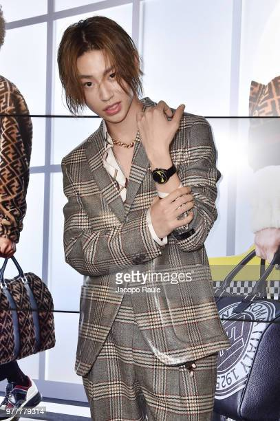 Lil Ghost attends the Fendi show during Milan Men's Fashion Week Spring/Summer 2019 on June 18 2018 in Milan Italy
