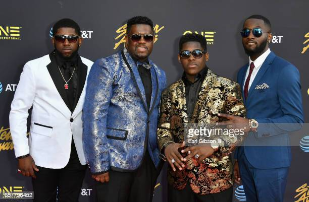 Lil Jay & the Spiritual Boys arrive at the 32nd annual Stellar Gospel Music Awards at the Orleans Arena on March 25, 2017 in Las Vegas, Nevada.