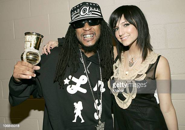 Lil' Jon and Ashlee Simpson during 2004 Billboard Music Awards Backstage and Audience at MGM Grand Garden in Las Vegas Nevada United States