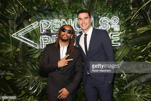 Lil Jon and Founder of PoP Adam Braun attend the Pencils of Promise 6th Annual Gala 'A World Imagined' at Cipriani Wall Street on October 26 2016 in...