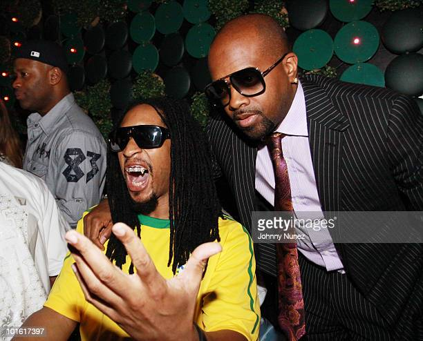 Lil' Jon and Jermaine Dupri attend Lil Jon's Crunk Rock album release party at Greenhouse on June 3 2010 in New York City