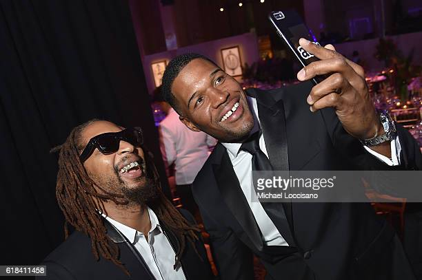 Lil Jon and Michael Strahan attend the Pencils of Promise 6th Annual Gala A World Imagined at Cipriani Wall Street on October 26 2016 in New York City