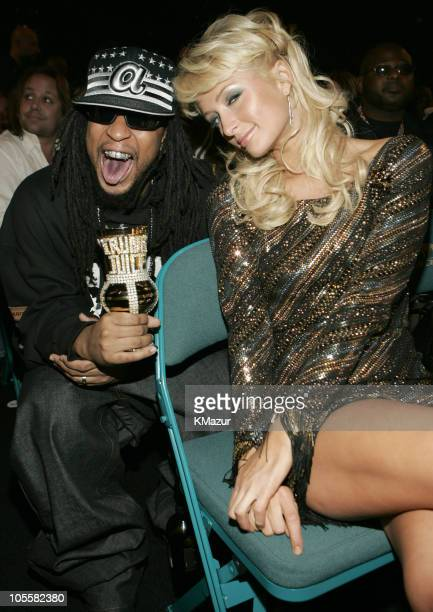 Lil' Jon and Paris Hilton during 2004 Billboard Music Awards Backstage and Audience at MGM Grand Garden in Las Vegas Nevada United States
