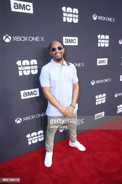Lil Jon arrives at The Walking Dead 100th Episode Premiere and Party on October 22 2017 in Los Angeles California