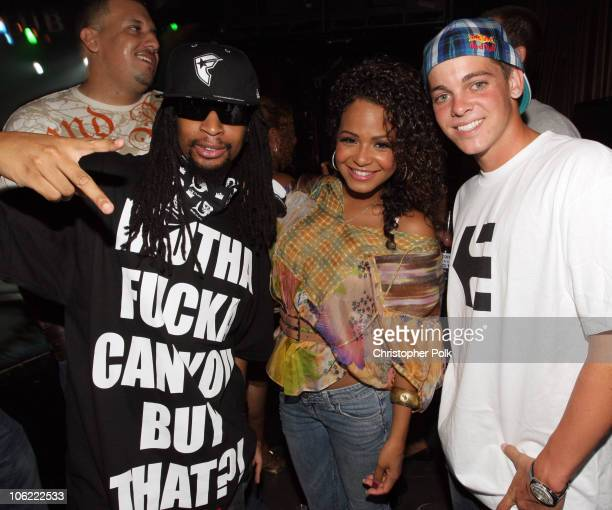 Lil Jon Christina Milian and Ryan Sheckler during the XGames XIV Kickoff Party hosted by Oakley and New Era held at The Key Club on July 30 2008 in...