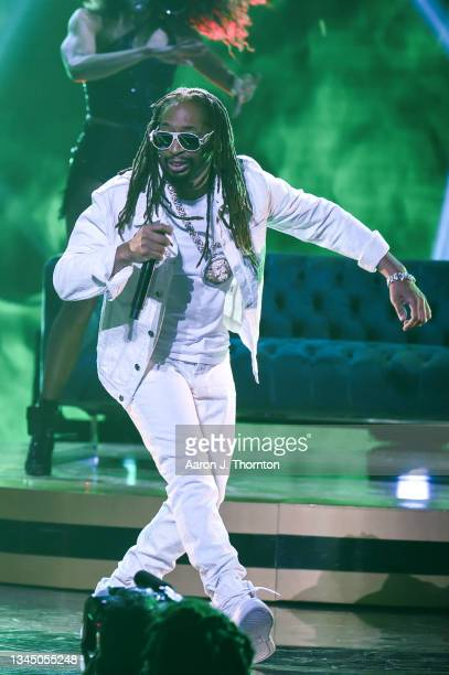 Lil Jon performs onstage during the 2021 BET Hip Hop Awards at Cobb Energy Performing Arts Centre on October 01, 2021 in Atlanta, Georgia.