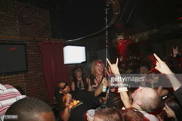 Lil Jon performs with Metal Skool at the Oakley BME Recording Crunk Energy Drink Host PreVMA Party at SNITCH on August 30th 2006 in New York New York