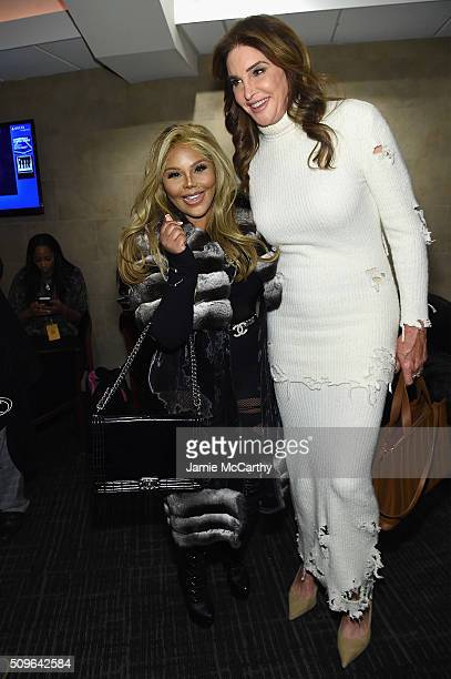 Lil' Kim and Caitlyn Jenner attend Kanye West Yeezy Season 3 on February 11 2016 in New York City