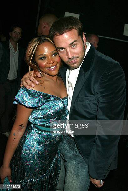 Lil Kim and Jeremy Piven during Olympus Fashion Week Spring 2006 - Marc Jacobs - Front Row and Backstage at N.Y. State Armory in New York City, New...