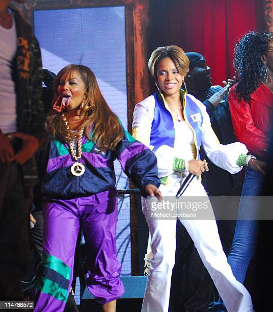 Lil Kim and MC Lyte during 2006 VH1 Hip Hop Honors Show at Hammerstein Ballroom in New York City New York United States