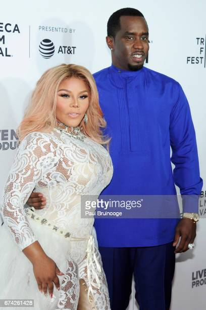 """Lil Kim and Sean Combs attend """"Can't Stop, Won't Stop: The Bad Boy Story"""" Premiere - 2017 Tribeca Film Festival at The Beacon Theatre on April 27,..."""