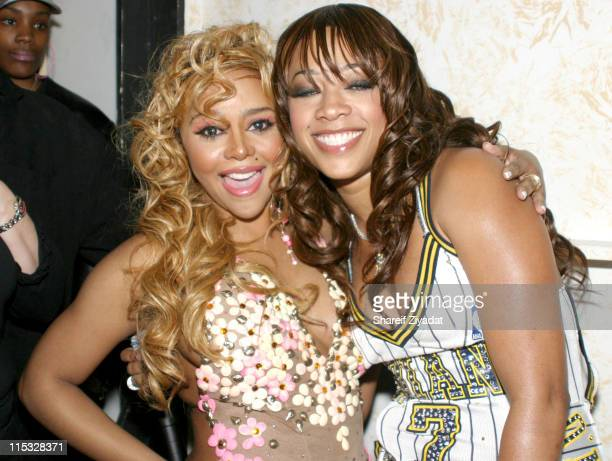 Lil' Kim and Trina during Fuse and Hot 97 Present Full Frontal Hip Hop with Host Lil' Kim at Webster Hall in New York New York United States