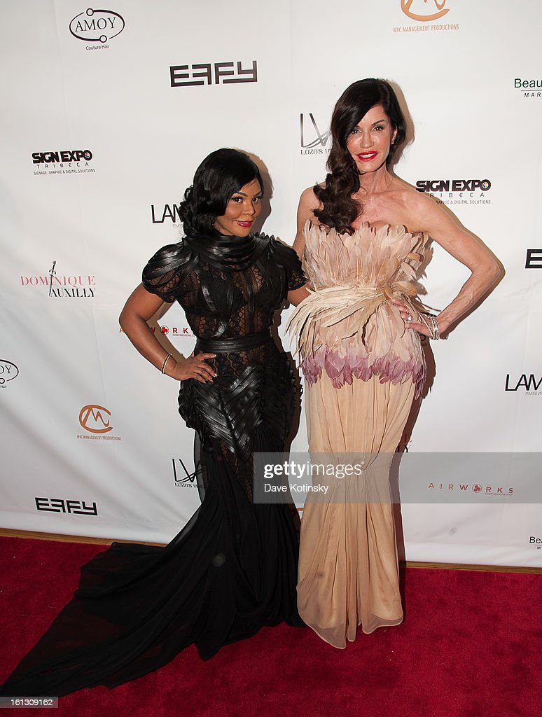 Lil' Kim andFormer Model / TV Personality Janice Dickenson attends 'The Reality Of Fashion, The Reality Of AIDS' Benefit during Fall 2013 Fashion Week at Altman Building on February 9, 2013 in New York City.