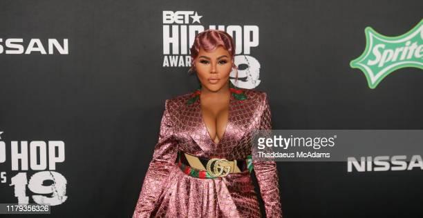 Lil Kim arrives to the 2019 BET Hip Hop Awards on October 05 2019 in Atlanta Georgia