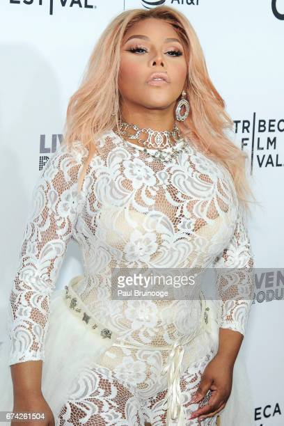 """Lil Kim attends """"Can't Stop, Won't Stop: The Bad Boy Story"""" Premiere - 2017 Tribeca Film Festival at The Beacon Theatre on April 27, 2017 in New York..."""