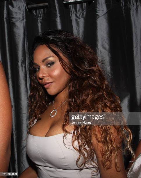Lil' Kim attends her Birthday Party at Spotlight Live on August 3, 2008 in New York City.