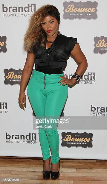 Lil Kim attends the 1 year anniversary party at Bounce Sporting Club on September 19 2012 in New York City