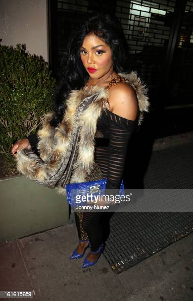 Lil' Kim attends the Baltimore Ravens Superbowl Victory Party at Greenhouse on February 12 2013 in New York City
