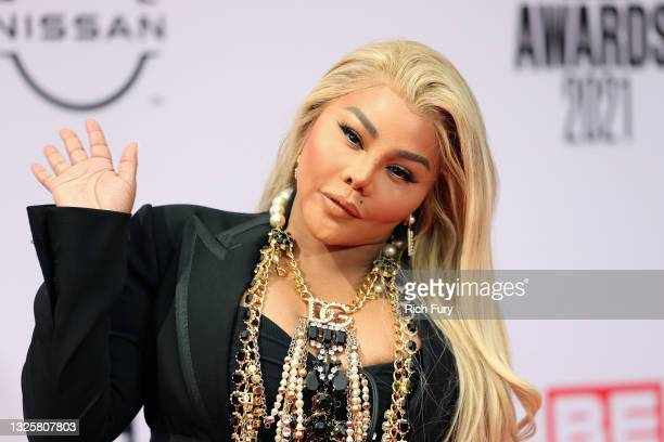 Lil' Kim attends the BET Awards 2021 at Microsoft Theater on June 27, 2021 in Los Angeles, California.
