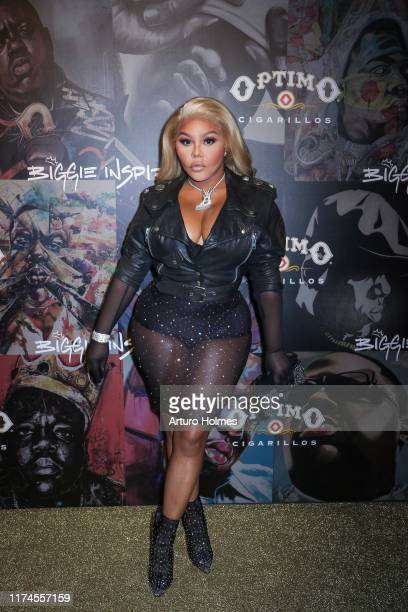 """Lil' Kim attends the """"Biggie Inspires"""" Art Exhibit & Celebration at William Vale Hotel on September 13, 2019 in New York City."""
