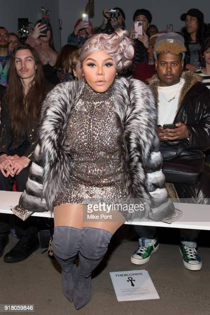 Lil Kim attends The Blonds fashion show during New York Fashion Week The Shows at Spring Studios on February 13 2018 in New York City