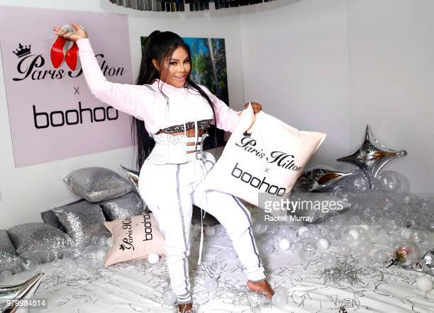 Lil' Kim attends the boohoocom x Paris Hilton Collection Launch Party at Delilah on June 20 2018 in West Hollywood California