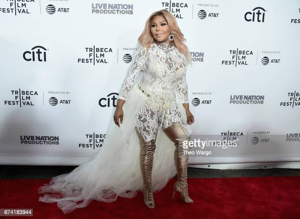 Lil Kim attends the Can't Stop Won't Stop The Bad Boy Story Premiere on April 27 2017 in New York City