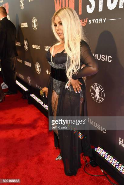 Lil' Kim attends the Los Angeles Premiere of Apple Music's CAN'T STOP WON'T STOP: A BAD BOY STORY at The WGA Theater on June 21, 2017 in Beverly...