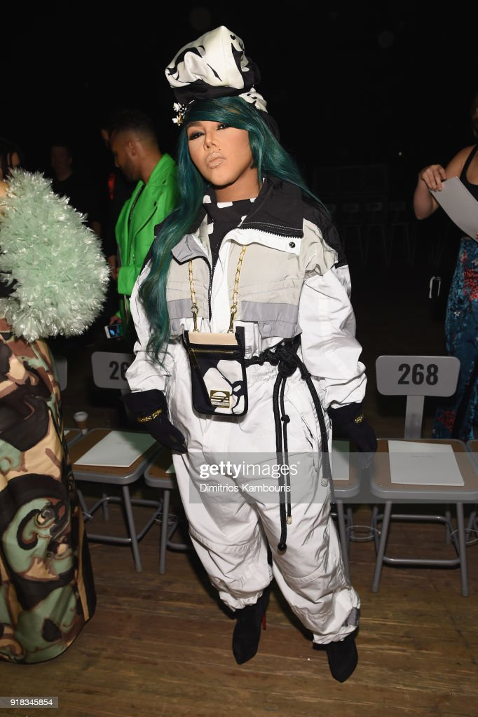 Lil Kim attends the Marc Jacobs Fall 2018 Show at Park Avenue Armory on February 14, 2018 in New York City.