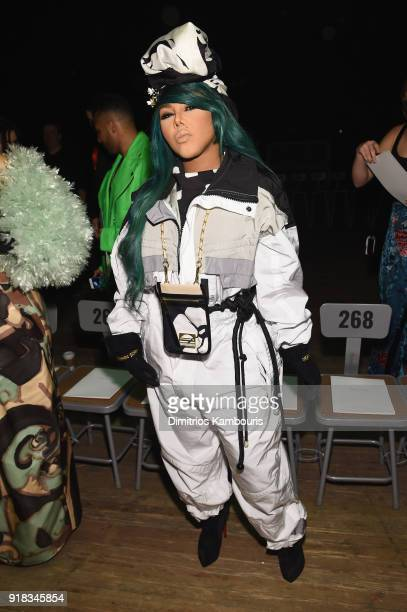 Lil Kim attends the Marc Jacobs Fall 2018 Show at Park Avenue Armory on February 14 2018 in New York City