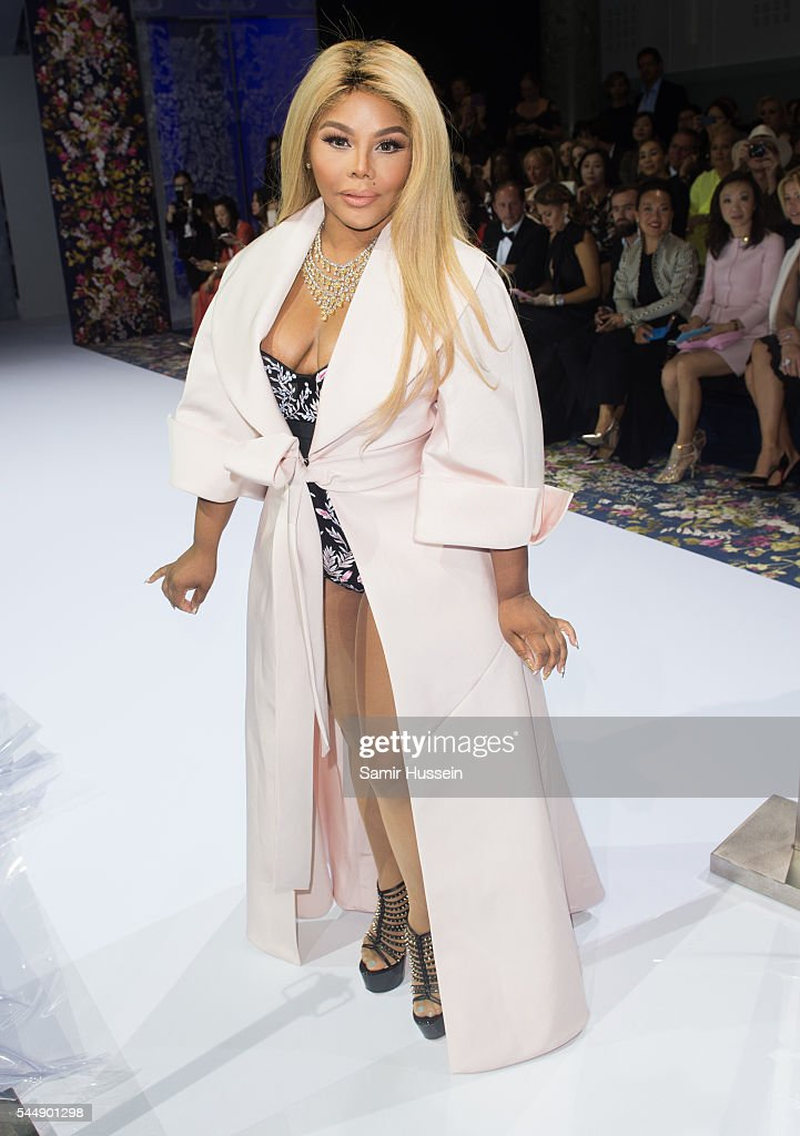 Lil' Kim attends the Ralph & Russo Haute Couture Fall/Winter 2016-2017 show as part of Paris Fashion Week on July 4, 2016 in Paris, France.