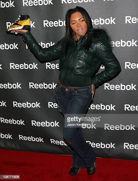 Lil' Kim attends the Reebok Freestyle World Tour event at 632 on Hudson on February 21 2008 in New York City