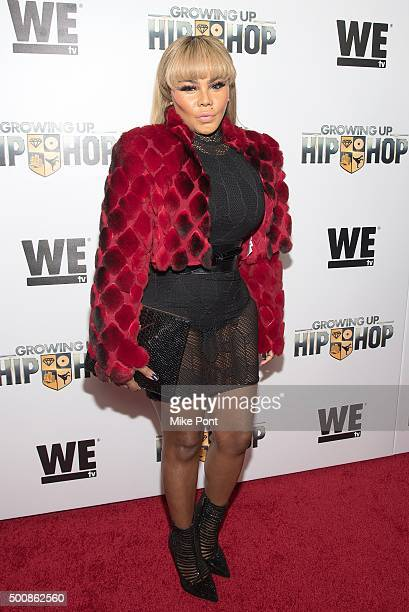 """Lil' Kim attends WE tv's """"Growing Up Hip Hop"""" premiere party at Haus on December 10, 2015 in New York City."""