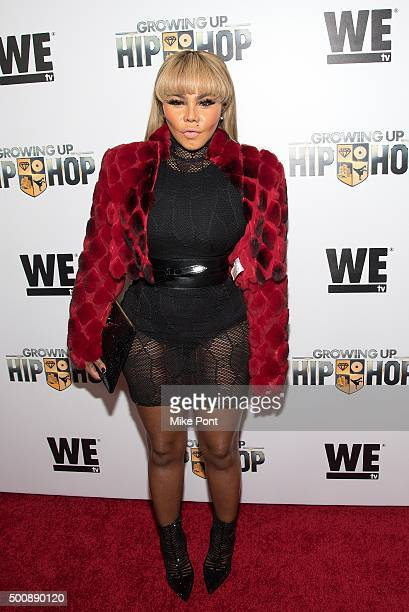 Lil Kim attends WE tv's 'Growing Up Hip Hop' premiere party at Haus on December 10 2015 in New York City