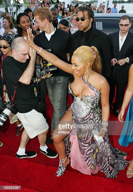 Lil' Kim during 2004 MTV Video Music Awards - Red Carpet at American Airlines Arena in Miami, Florida, United States.