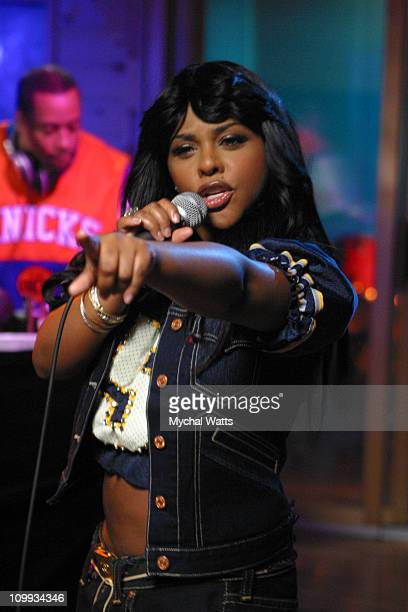 Lil Kim during Atlantic Recording Artist Lil Kim Tapes Sessions at AOL New York at Quad Recording Studio's in New York City New York United States