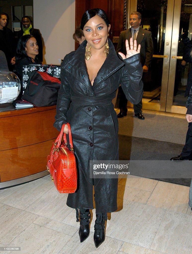 Lil'Kim attends Cassandra Mills' Haute Face Launch