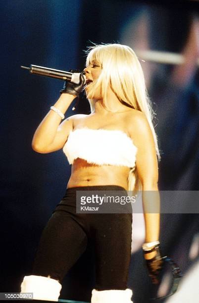 Lil' Kim during Net Aid - October 9, 1999 at Giants Stadium in Meadowlands, New Jersey, United Kingdom.