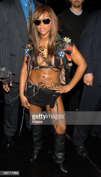 Lil' Kim during NYC's HOT 97 FM Radio Celebrates Summer Jam X - Backstage at Giants Stadium in East Rutherford, New Jersey, United States.