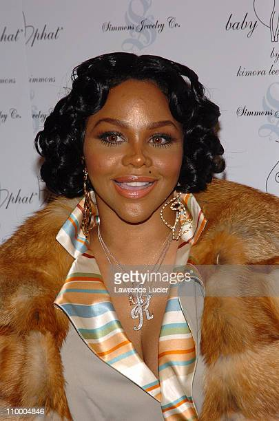 Lil Kim during Olympus Fashion Week Fall 2005 Baby Phat Arrivals at Skylight Studio in New York City New York United States