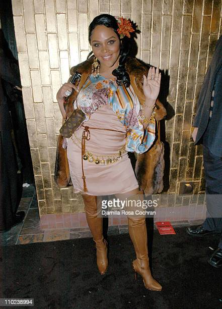 Lil' Kim during Patricia Field for the House of Rocawear Lounge at Ono at the Hotel Gansevort in New York City New York United States