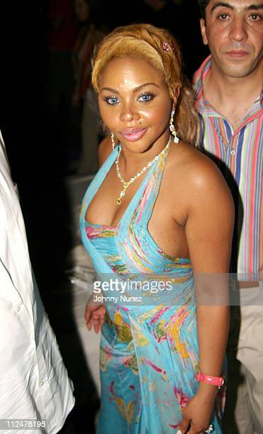 Lil' Kim during Roc Digital's Rocbox Launch Party at Sky Bar at The Shore Club in Miami Florida United States