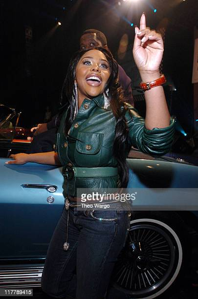 """Lil' Kim during Sony Playstation 2 Teams with Russell Simmons and the Hip-Hop Summit Action Network to """"Race to the Polls"""" - Show at Hammerstein..."""