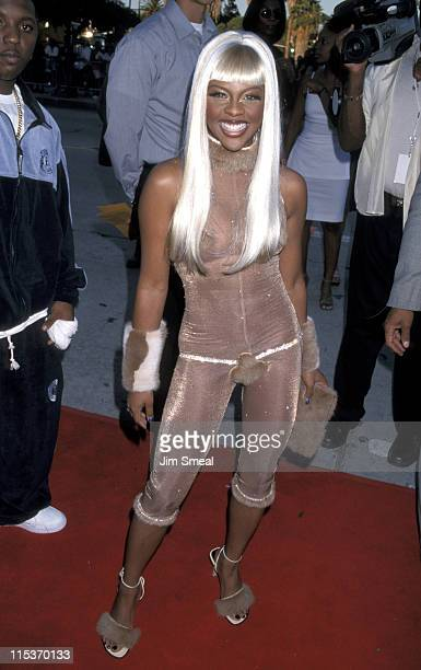 Lil' Kim during The 1999 Source HipHop Music Awards at The Pantages Theatre in Los Angeles California United States