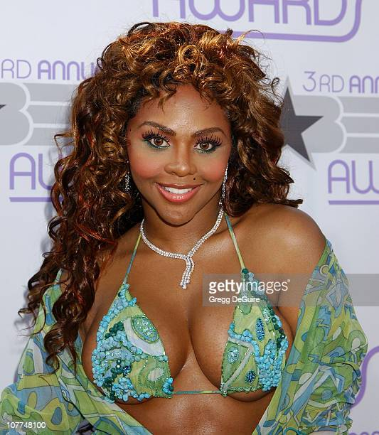 Lil Kim during The 3rd Annual BET Awards Arrivals at The Kodak Theater in Hollywood California United States