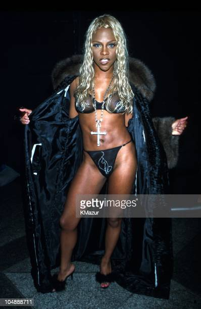 Lil' Kim during The 4th Annual Urbanworld Film Festival and preview of Kimora new lingerie line Baby Phat at Sony Atrium in New York City New York...
