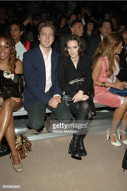 Lil Kim Henry Alex Rubin Winona Ryder and Eva Mendes attend MARC JACOBS Spring 2007 Fashion Show at New York Armory on September 11 2006 in New York...